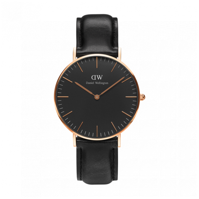 Daniel Wellington Classic Black Sheffield 經典皮帶錶 (40 36mm)