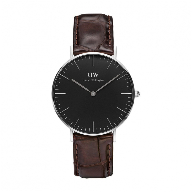 Daniel Wellington Classic Black York 經典皮帶錶 (40 36mm)