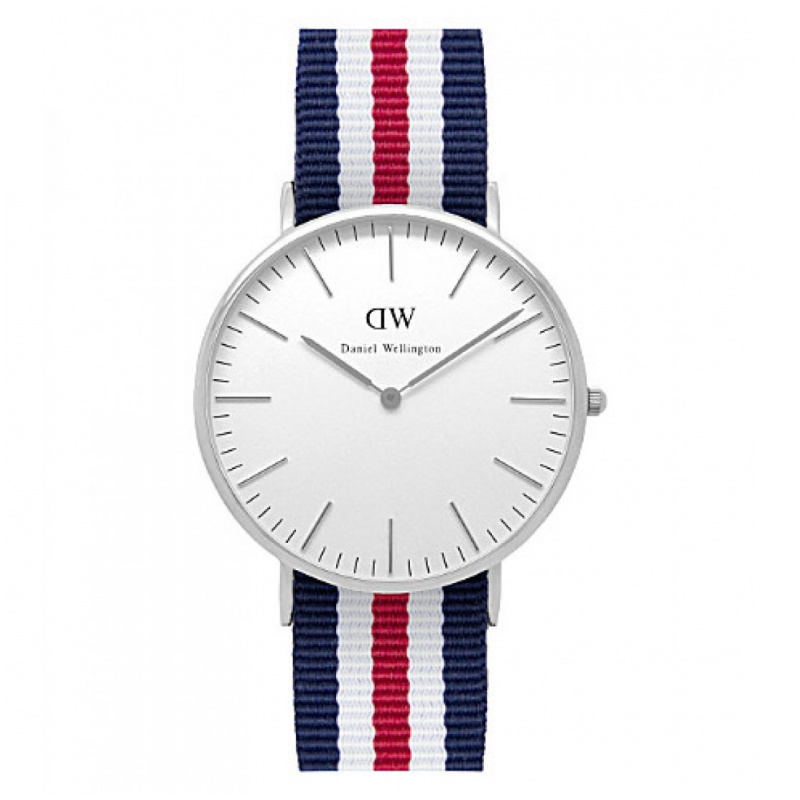Daniel Wellington Classic Canterbury 時尚藍白紅尼龍帶錶 (40/36mm)