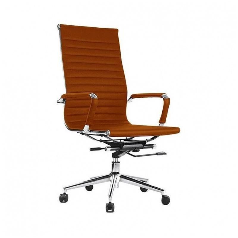 906A 辦公椅 電腦椅 電鍍鋼腳 (啡/杏/黑)