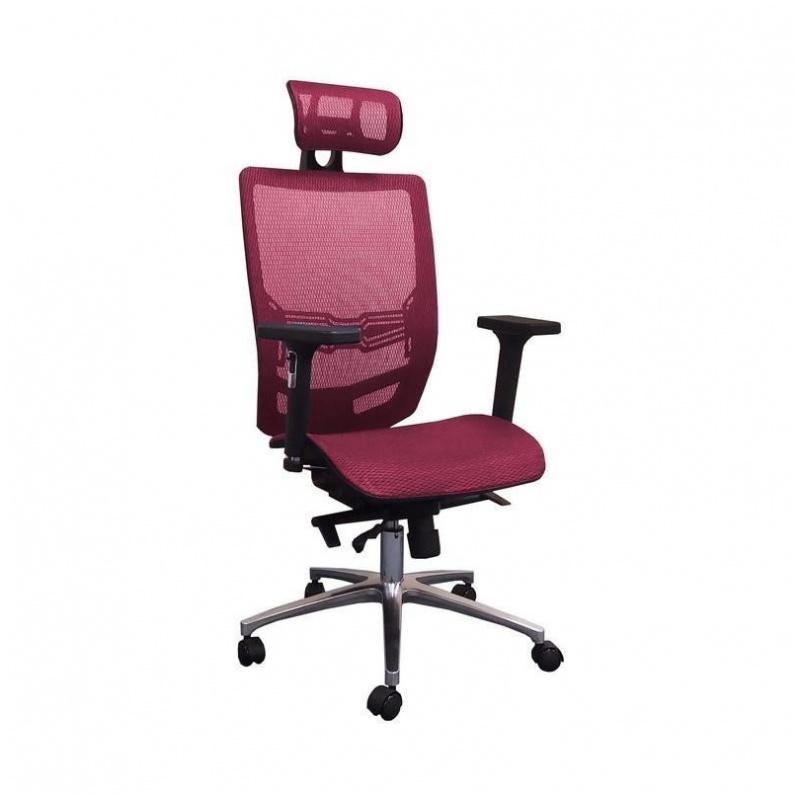 B04 人體工學辦公椅 電腦椅 鋁合金腳 (紅/藍/黑)