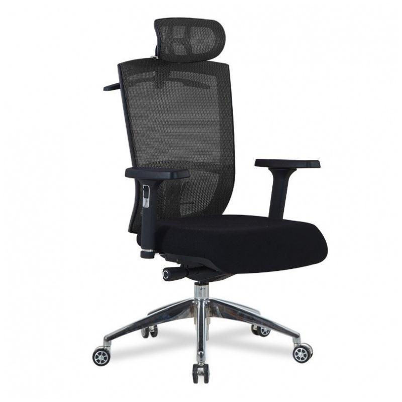 B09 鋁合金腳 辦公椅 (黑/藍)