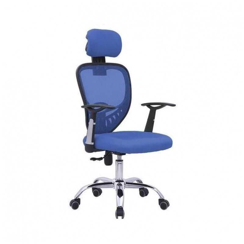 D07 辦公椅 電腦椅 電鍍鋼腳 (紅/藍/灰/黑)