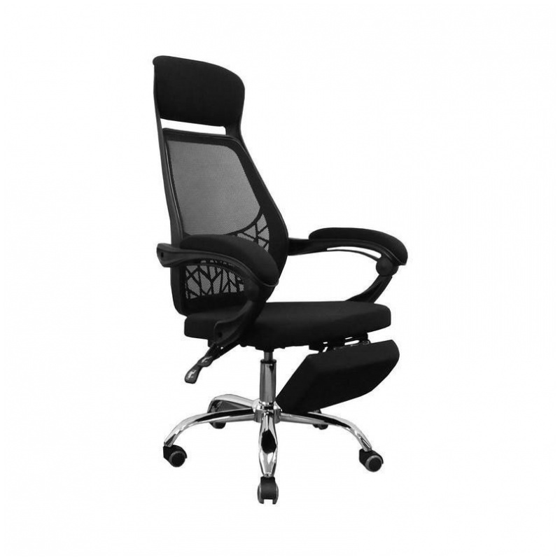 D43 辦公椅 電腦椅 電鍍鋼腳 (黑/紅/藍)
