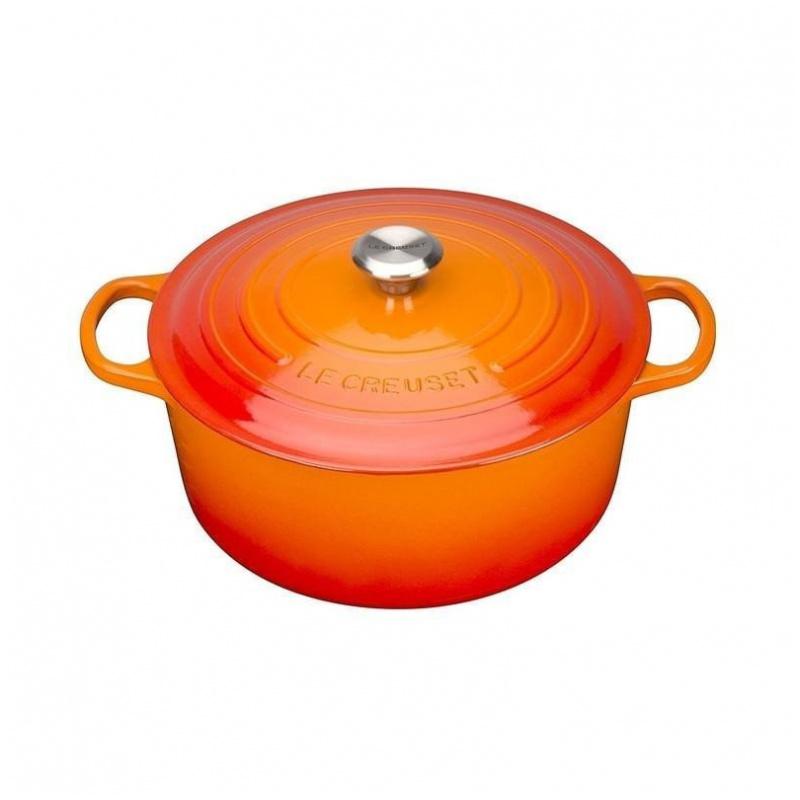 Le Creuset 鑄鐵鍋 橙 (20cm/24cm/26cm/28cm)