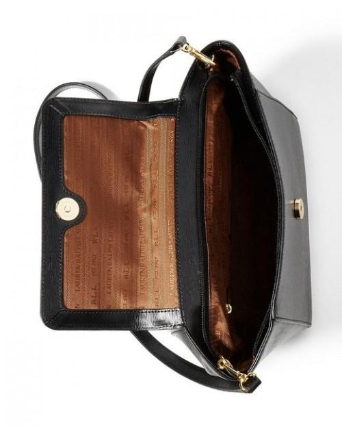 RALPH LAUREN LEATHER BARCLAY CROSSBODY BAG 女裝皮革斜挎包 (黑色) LAU-431644275-001