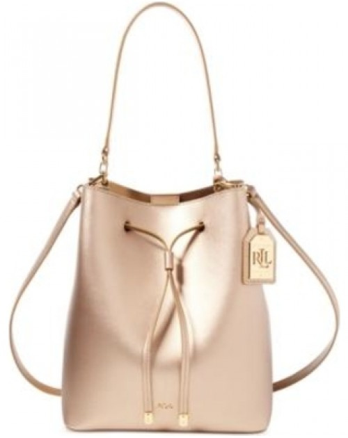 Ralph Lauren Leather Debby Drawstring Bag 女裝皮革束帶手袋 (LAU-431617297-010)