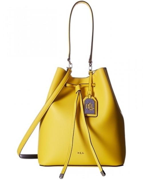 Ralph Lauren Leather Debby Drawstring Bag 女裝皮革束帶手袋 (LAU-431617297-011)