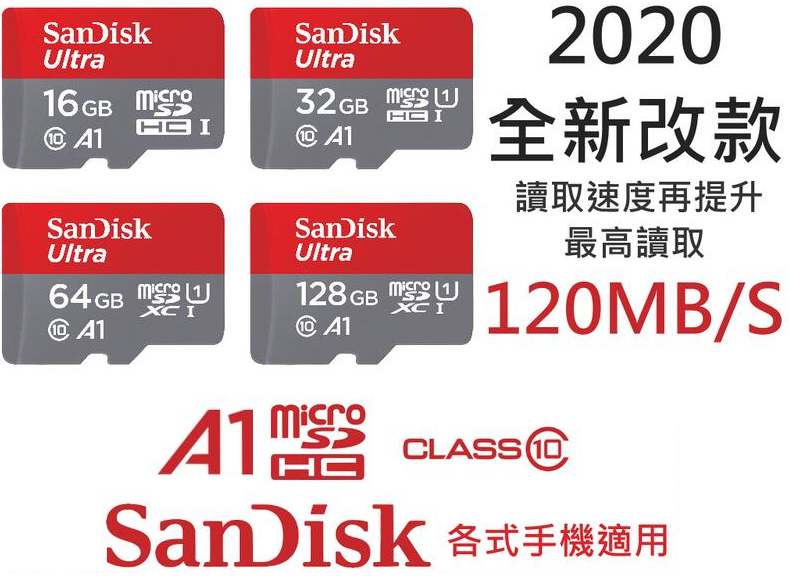 SANDISK - ULTRA® microSD UHS-I CARD up to 120MB/s( SDSQUA4)