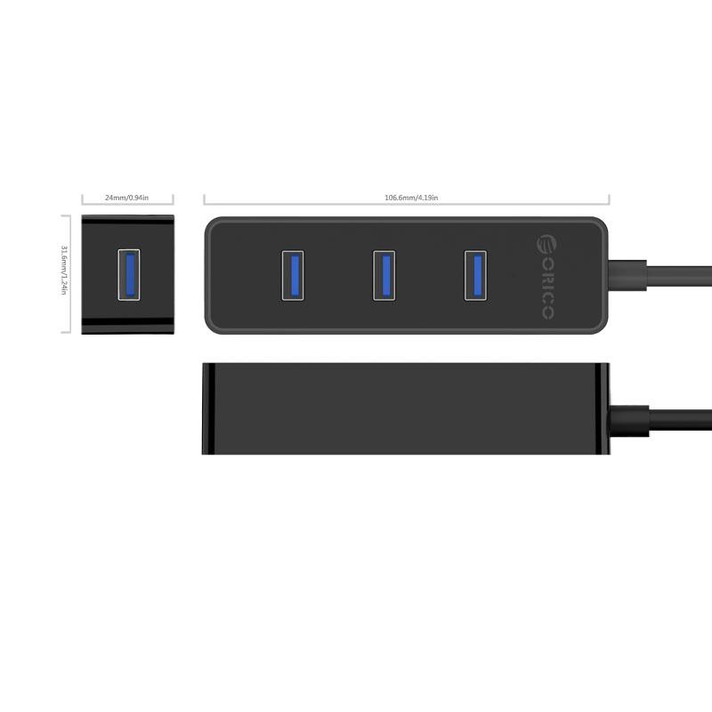 Orico Ultra Mini USB3.0 分享器 Hub (W5PH4-U3-V1)