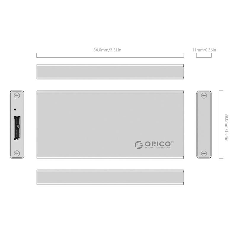 ORICO mSATA Hard Drive Enclosure (MSA-U3)