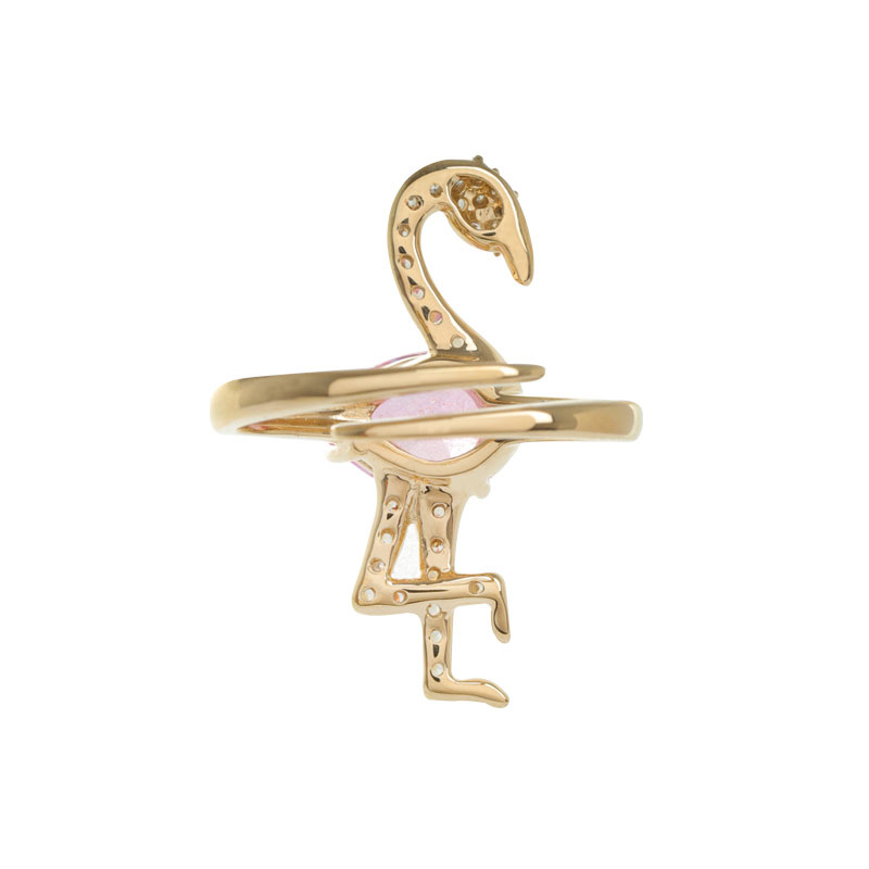 ARTĒ Madrid - Tropical Dream Pink Flamingo 耳環/胸針/掛飾/戒指 (可調較)