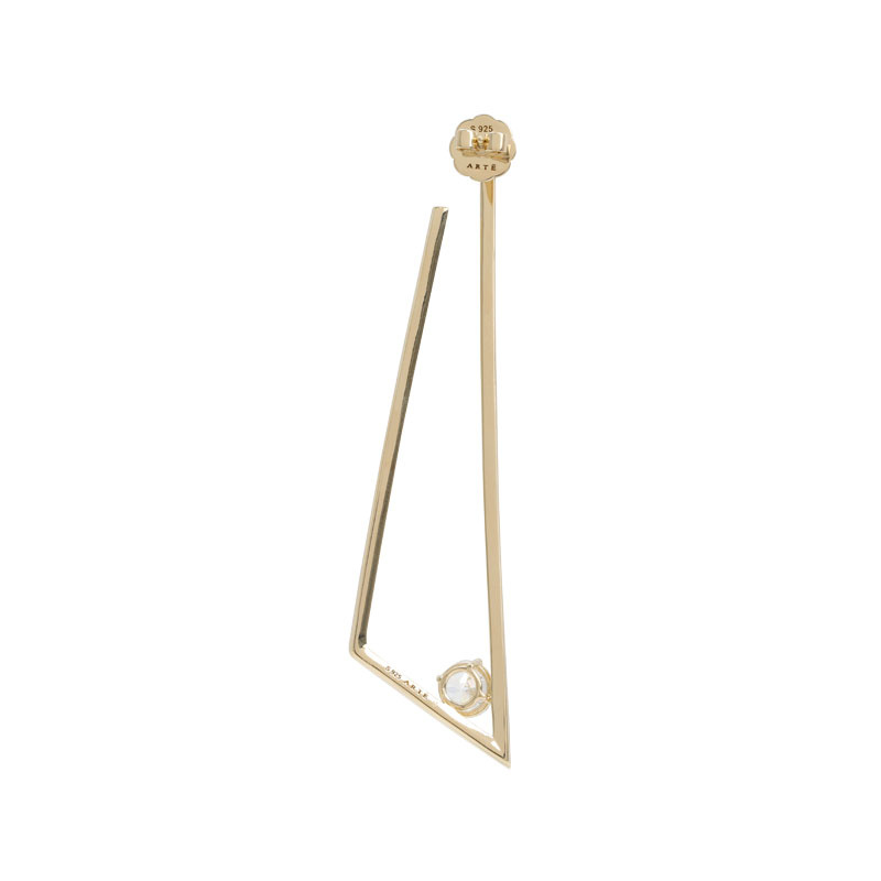 ARTĒ Madrid - Fancy 120V系列三角形特色耳環 (單隻)