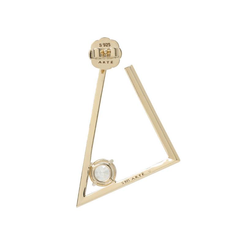 ARTĒ Madrid - Fancy 120V系列嬌小三角形耳環 (單隻)