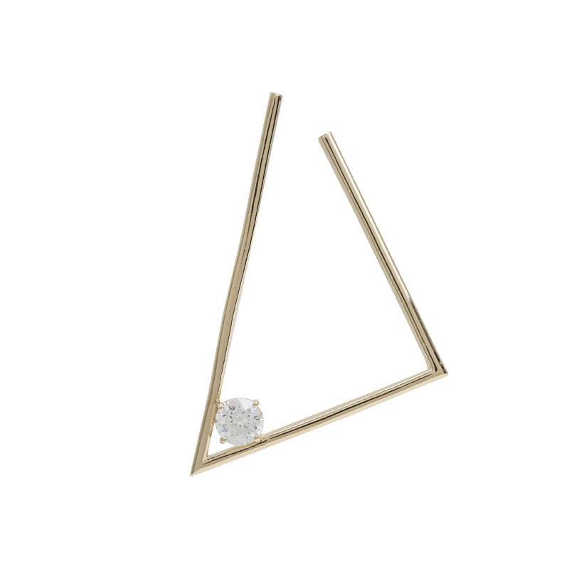 ARTĒ Madrid - Fancy 120V系列三角形別緻耳環 (單隻)