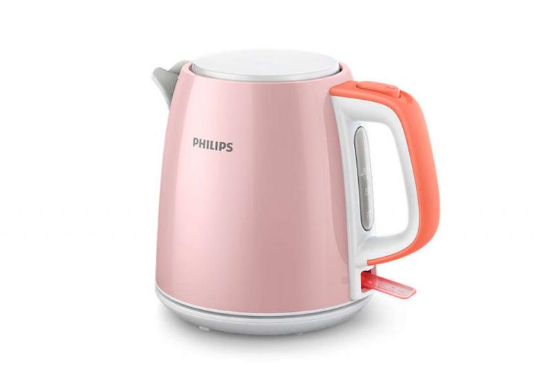 Philips - 1L 無線不銹鋼電熱水煲 - HD9348/58 (粉紅色)