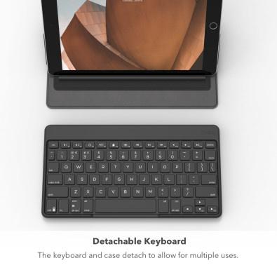 [香港行貨]ZAGG FLEX便攜式通用鍵盤和可拆卸支架[ (適用於Apple,Windows和Android平板電腦(最多12英寸))