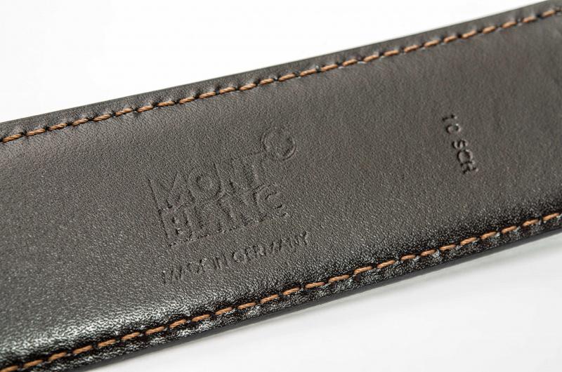 Montblanc 雙面寬身長皮帶 105092 [黑色]