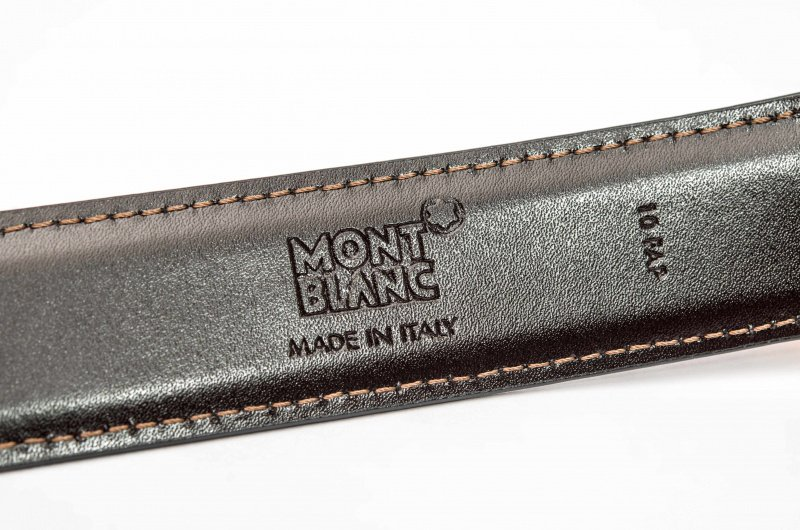 Montblanc 萬寶龍 111633 鍍針針扣 黑色/棕色雙面皮帶