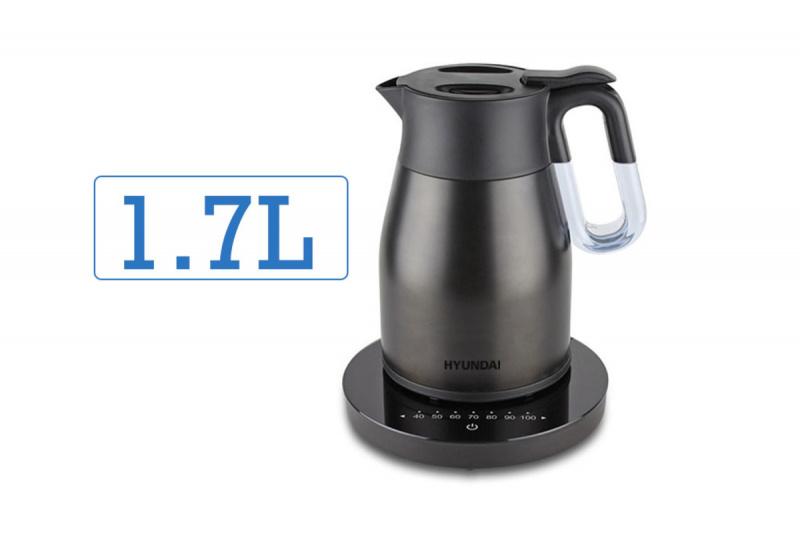現代 - 1.7L 真空無線控溫電熱水壺 - HY-KT17EK
