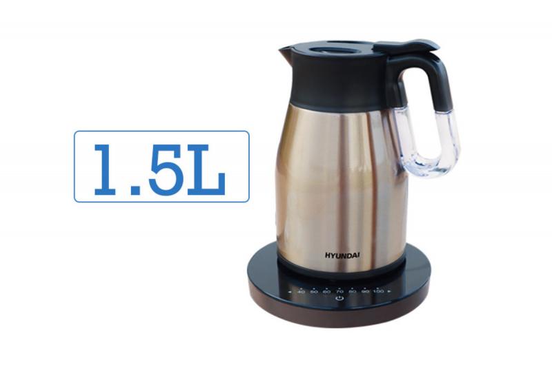 現代 - 1.5L 真空無線控溫電熱水壺 - HY-KT15EK