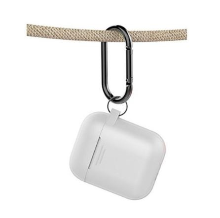 AhaStyle PT06 PODFIT 2.0 - AIRPODS 專用全包覆掛勾保護套 (帶登山扣掛鉤 帶防塵塞 升級版 矽膠套) [多色可選]