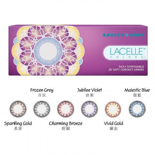 博士倫 Bausch+Lomb Lacelle Colors眼妝Con 每日拋棄型彩色隱形眼鏡|每盒30片
