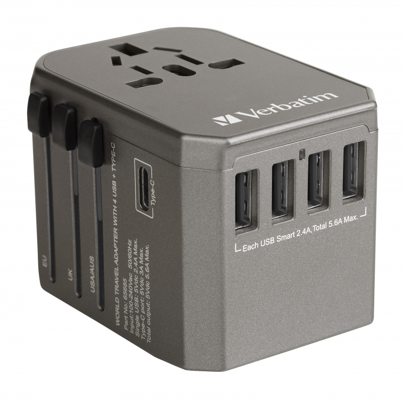 Verbatim - 5 Ports Universal Travel Adapter
