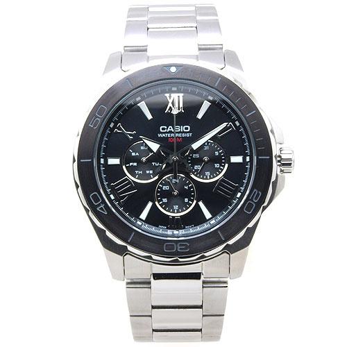 Casio 簡約經典羅馬時尚指針鋺錶 #MTD-1075D-1A1