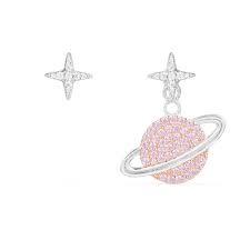 APM Monaco COLLECTION LOVE 80S 銀粉色星球耳環(AE10559XORW)