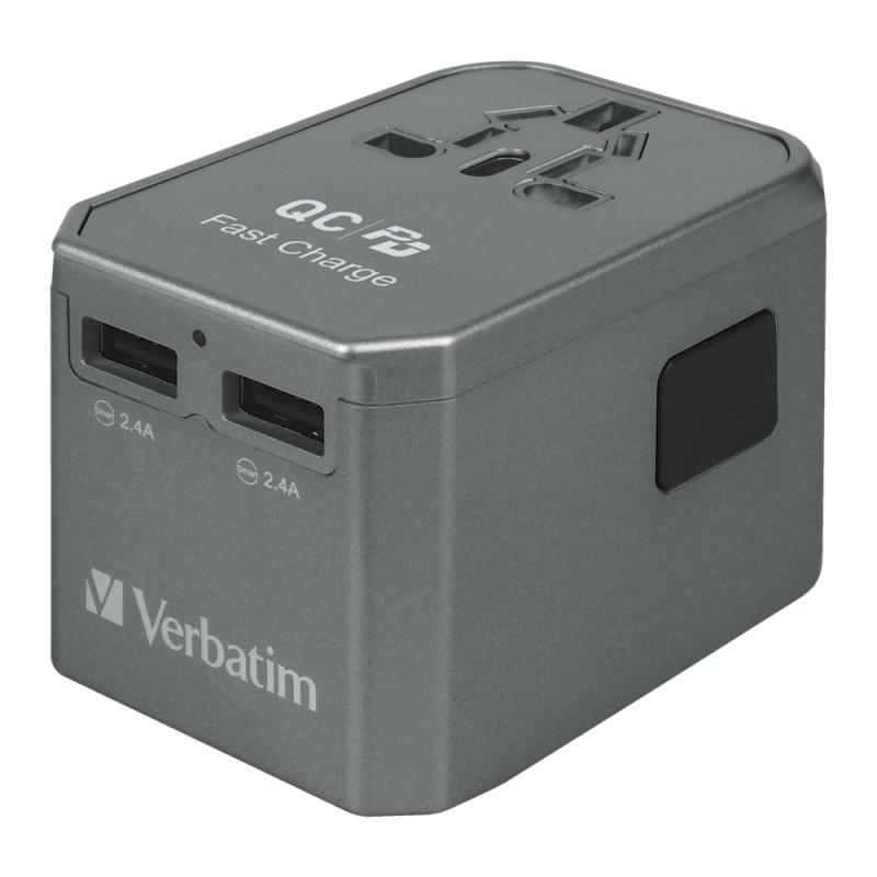 Verbatim 4 Ports Universal Travel Adapter