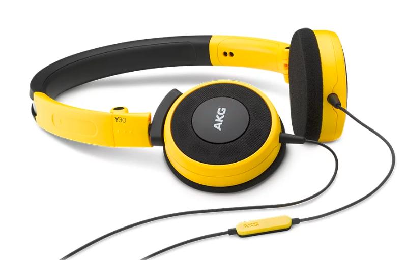 AKG Y30 摺疊式耳機 [黃色]