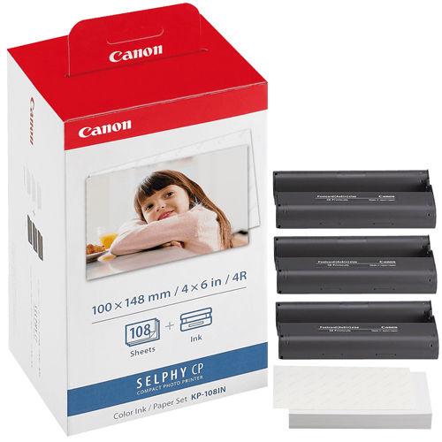 Canon KP-108IN 相紙色帶打印套裝(108張/4R)