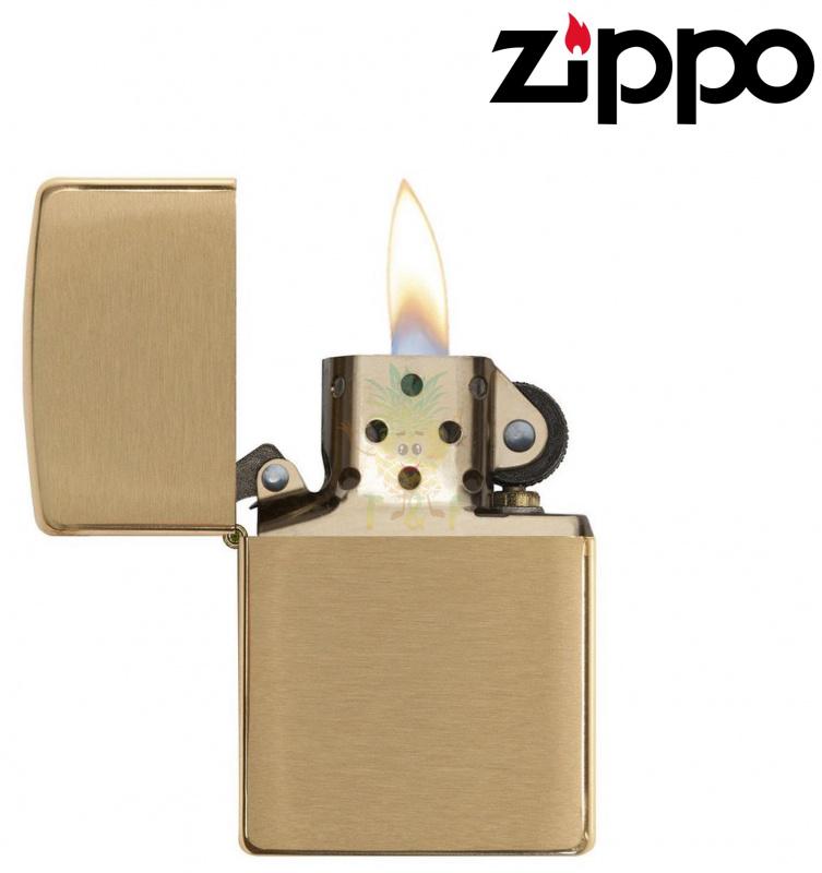 Zippo Brushed Brass 204B 打火機