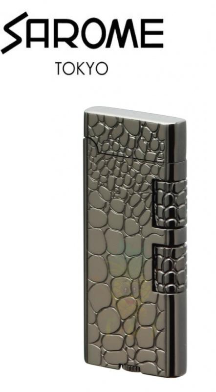 SAROME - Crocodile Engraving SD40-04 , Black Nickel 打火機