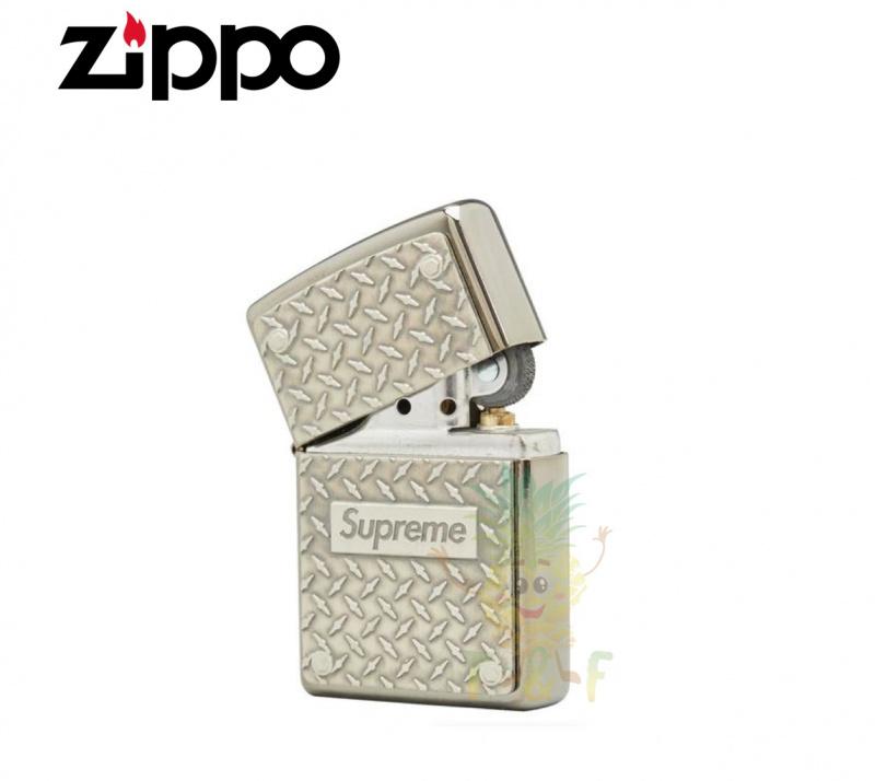 Zippo - Supreme Diamond Plate Metal SS19 打火機