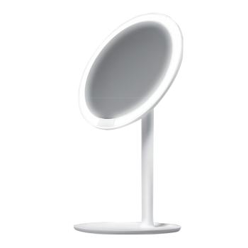 小米 AMIRO高清日光LED化妝鏡MINI 系列-充電版,USB充電,一鍵調節低中高三種亮度