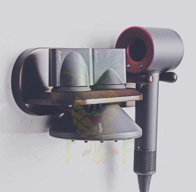 Dyson HD01 風筒專用免釘牆實木掛架 [原木色]