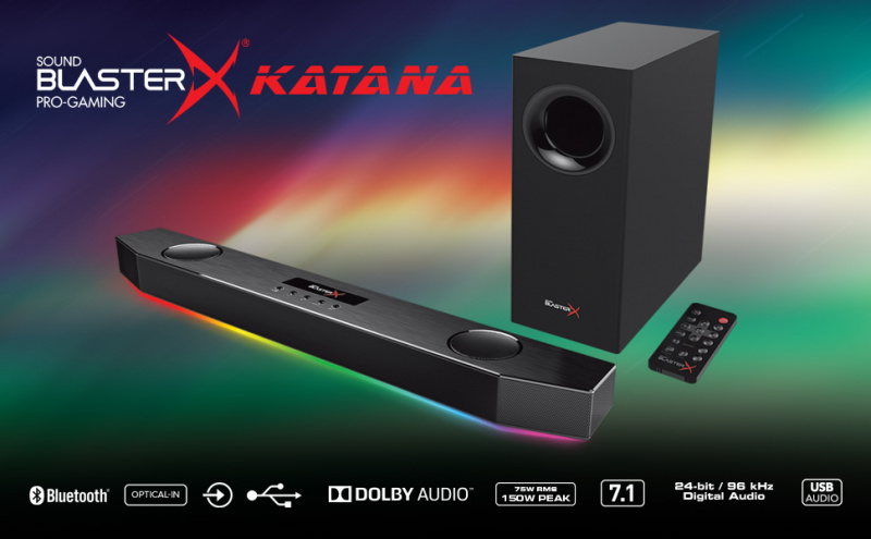 Creative Sound BlasterX Katana Multi-channel Gaming Soundbar 電競揚聲器