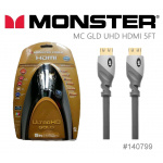 Monster UltraHD Gold HDMI Cable 5ft/1.52m HDMI線(140799)