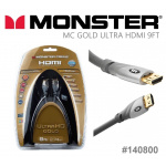 Monster UltraHD Gold HDMI Cable 9ft/2.74m HDMI線 (140800)