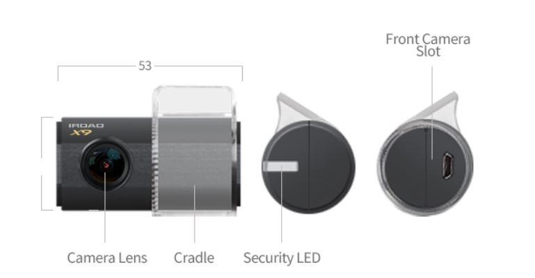 全港免運 [韓國製造] iRoad X9 內置WIFI 1080P 前後鏡全高清行車記錄儀 32GB [香港行貨]