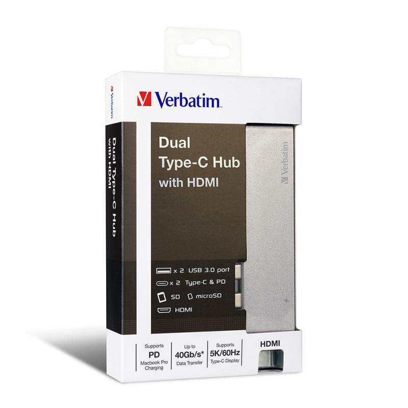 Verbatim - Type C 雙接頭擴展器連 HDMI