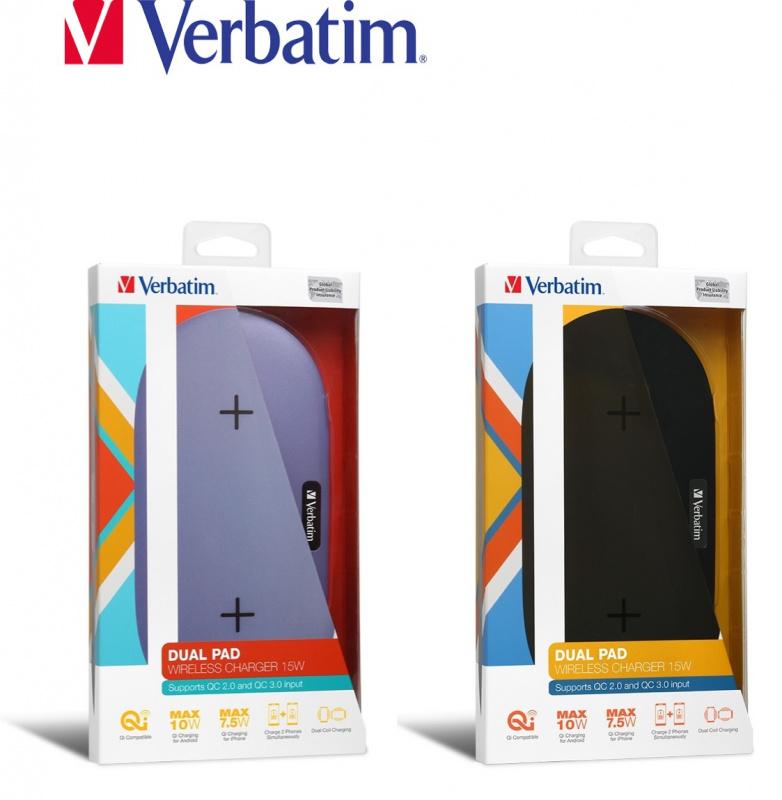 Verbatim - 15W 無線雙充電器