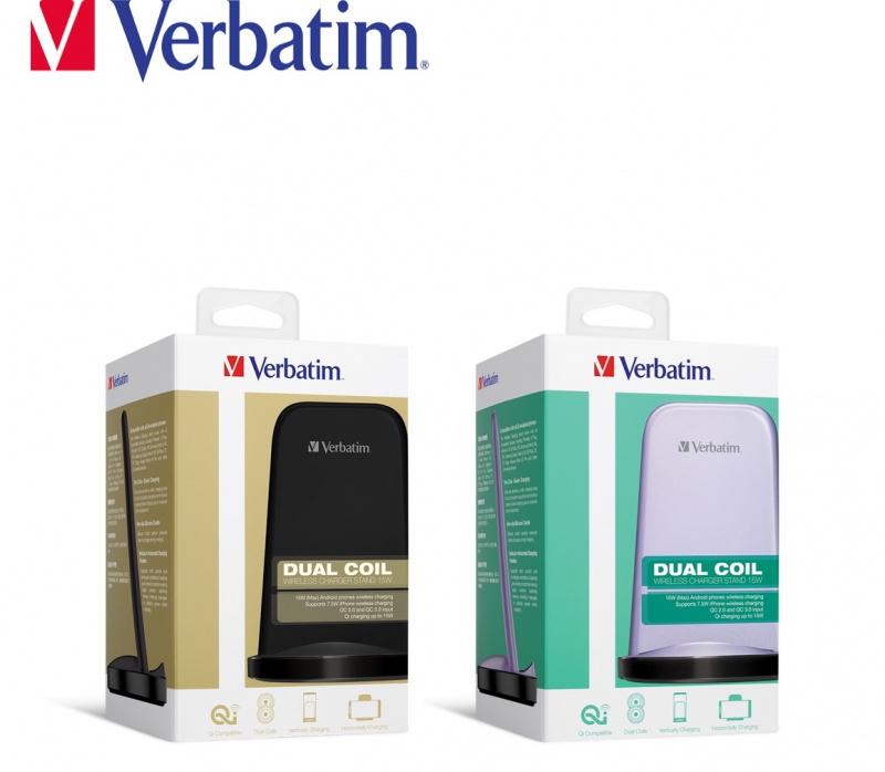 Verbatim - 15W 站立式無線雙充電器