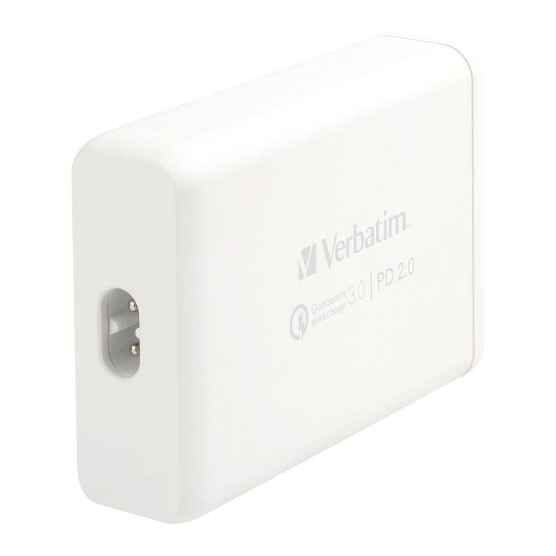Verbatim - 4 Ports 75W多功能充電器 PD+QC3.0 (工商免運)