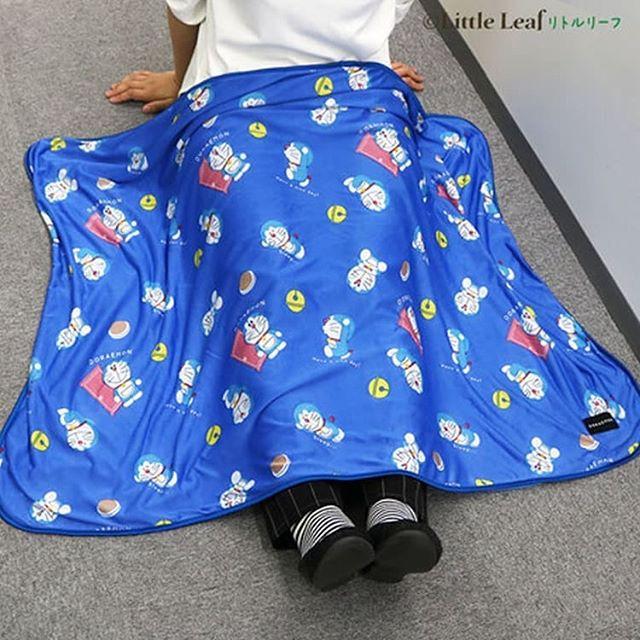 日本Little Leaf Sherbet Cool 多啦A夢 嬰兒涼感套裝(涼感毯 + BB車涼感座墊)