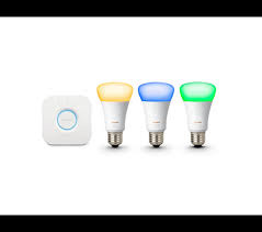 Philips 飛利浦 Hue E27 智能燈泡+橋接器入門套裝 ( 白光+彩光)