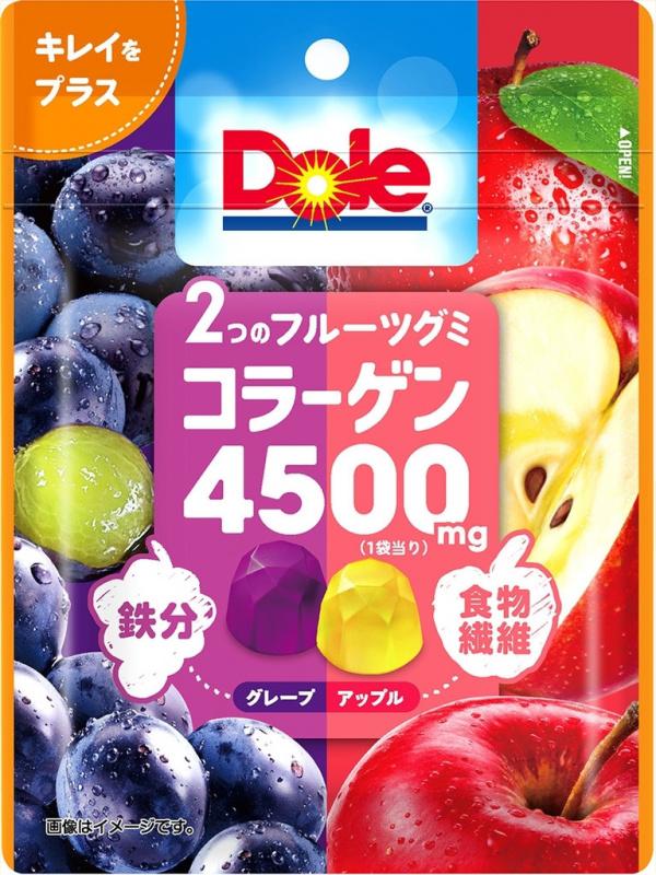 F12223 不二家 Dole 兩種水果膠原蛋白軟糖 75g