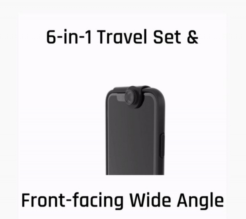 [6 in 1] ShiftCam 2.0 TRAVEL SET EDITION WITH FRONT FACING WIDE ANGLE LENS IPHONE [7 8plus / X / XR / XS / xs Max]